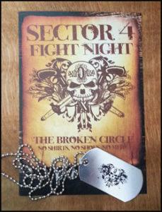 Fight Night Postcard & Dog Tags