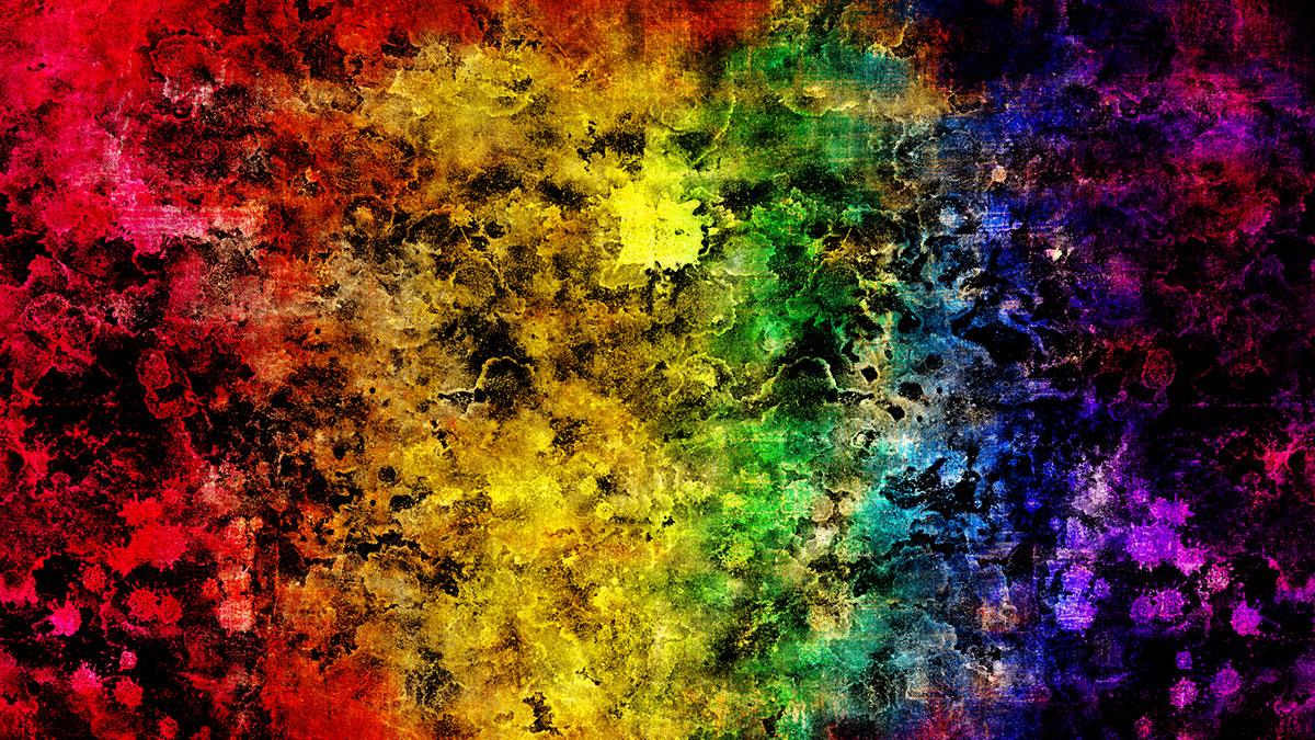 An abstract rainbow.